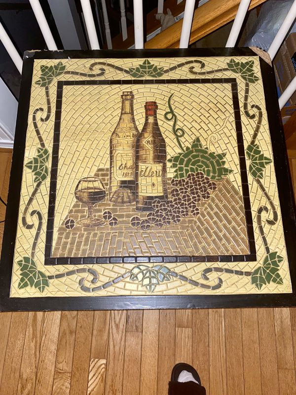 WINE STONE TILE ACCENT TABLE