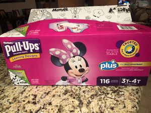 Huggies Pull Ups size 3t-4t for Sale in Fresno, CA