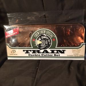 Train cookie cutter set copper plated for Sale in Hawthorne, NJ