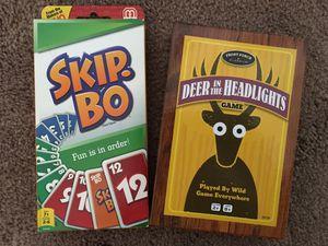 Like New Kids Card Games Skip Bo & Deer I'm the Headlights for Sale in Las Vegas, NV