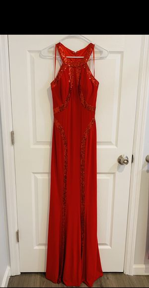 Faviana - Red Sequin Halter Prom Dress for Sale in St. Petersburg, FL