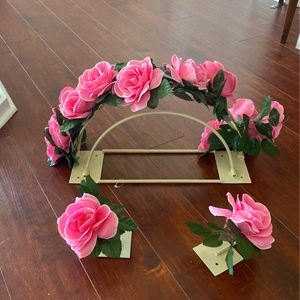 Attaches to Wall Canopy, Bed Crown,Floral Canopy Tie Backs,Ivory,Backdrop,Crib Canopy,Nursery Decor,Teepee,Baby Shower Gift,Wedding Backdrop for Sale in Orlando, FL