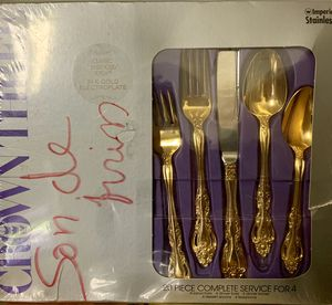 20 piece Gold Plated Utensil Set (NEW) for Sale in Garden Grove, CA