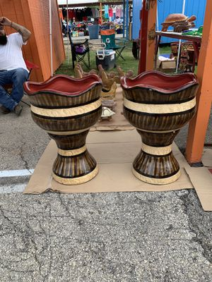 Pottery and flower pots 2/$65 for Sale in Somerset, TX
