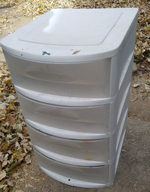 4 drawer plastic drawer junk crafts tools container for Sale in Denver, CO