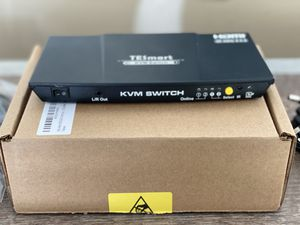TESSmart HDMI 2-Port KVM with Cables for Sale in San Antonio, TX