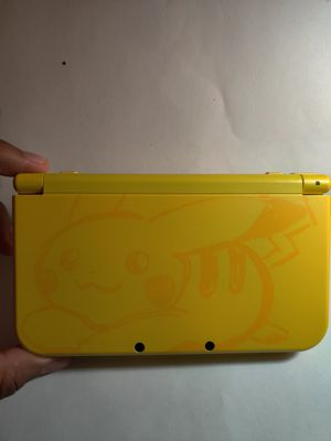 Rare discontinued pikachu Nintendo new 3ds xl with 300 3ds games , ds , 2ds , 256gb sd for Sale in Los Angeles, CA