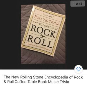 Rock n Roll Rolling Stone Encyclopedia Music Trivia Coffee Table Book for Sale in Cary, NC