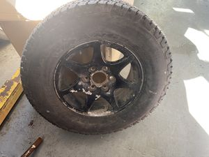 1 tires and rims 285/70/17 for chevy for Sale in Braintree, MA