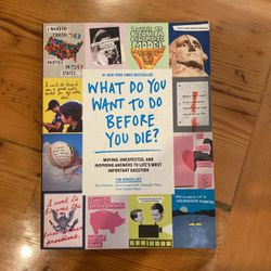What Do You Want To Do Before You Die Book for Sale in Seattle,  WA