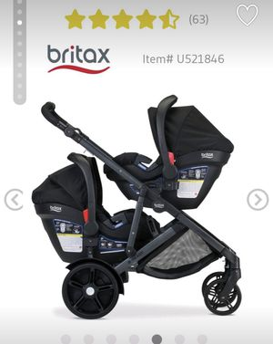 Britax B ready double stroller with 2 car seats for Sale in Pooler, GA