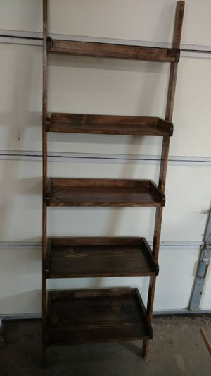 Hand made solid wood ladder shelf for Sale in Milan, IL
