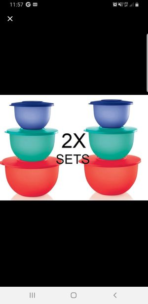 CLASSIC IMPRESSIONS 2x BOWL SET 3 for Sale in Sanger, CA