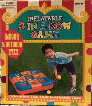 Circus themed - Inflatable 3 in a row game for Sale in Miami Beach, FL