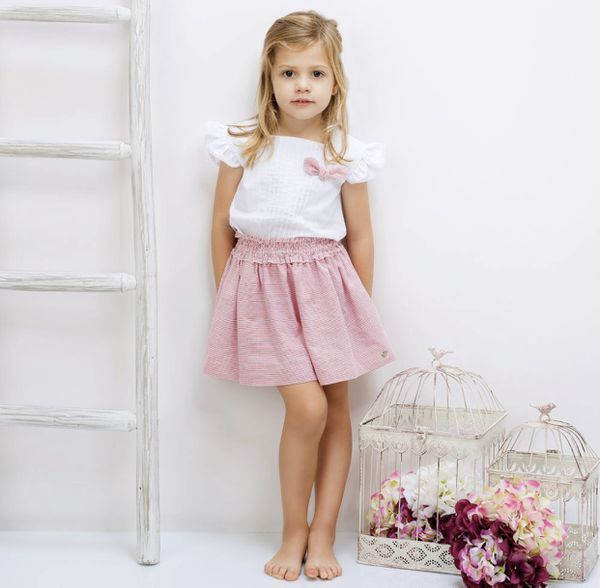 Cotton skirt and blouse