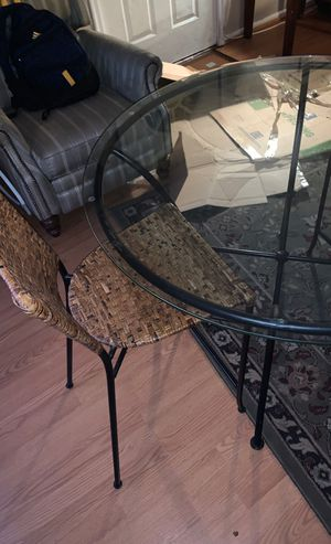 Glass round table for Sale in Sterling, VA