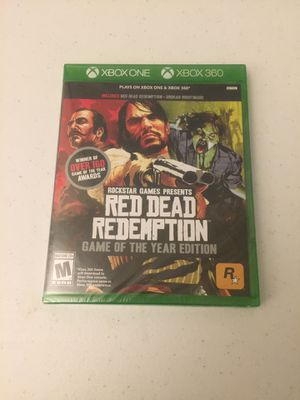 Red dead redemption game of the year Xbox 360 and Xbox one new for Sale in Westborough, MA