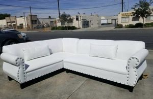 9x7 white leather couch for Sale in Los Angeles, CA