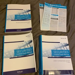 Kaplan SIE, Series 7 & 66 Textbooks for Sale in Upland, CA