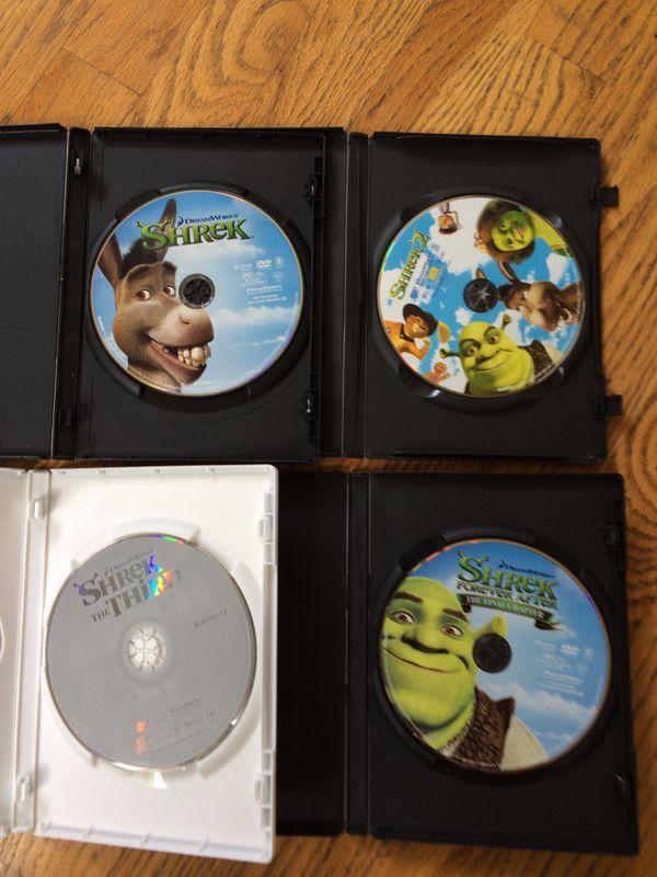 Shrek DVD set of 4