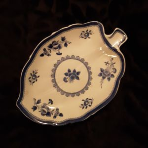 SPODE DISH, Made in England, FINE IRON STONE ~ Leaf Shape ~ flow blue ~ GLOUCESTER for Sale in Tacoma, WA