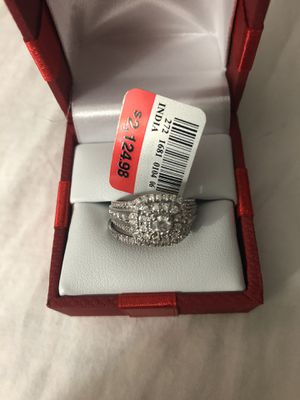 10 k wG 1 CTTW diamond wedding band and ring set for Sale in Fairfax, VA