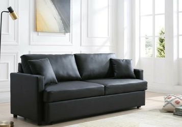 Rebecca Black PU Sleeper Sofa VENDORMYCO for Sale in Houston,  TX