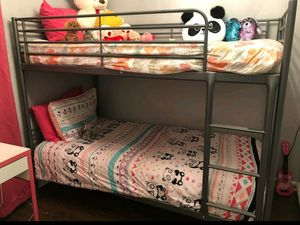 Ikea 2 Tier TWIN Sz Size Bunk Bed Bunkbeds + 1 Stair (NO MATTRESS) for Sale in Monterey Park, CA