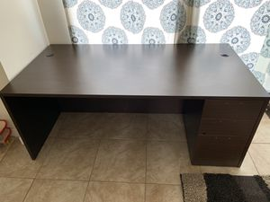 Office desk with box file / L shape returns for Sale in Tacoma, WA