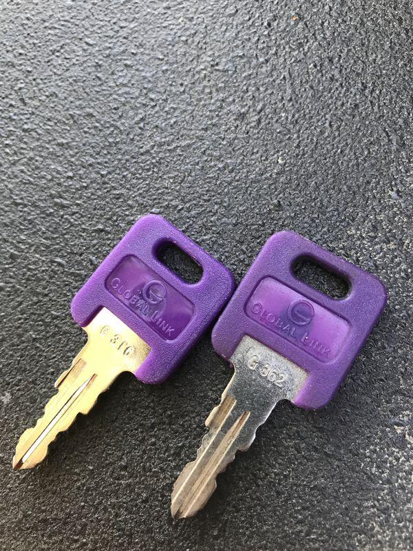 RV camper trailer keys G316 G362