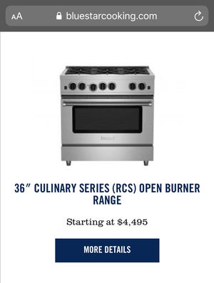 Bluestar 6 Burner Gas Range for Sale in Miami, FL