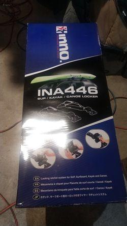SUP or Kayak rack for top of car Sup/ Kayak/ Canoe Locker Inno INA446 for Sale in Leavenworth,  WA