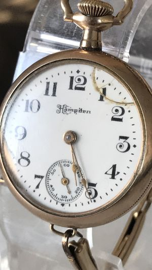 Vintage Hampden Watch Size 3s 7 Jewels !!! for Sale in Weir, TX