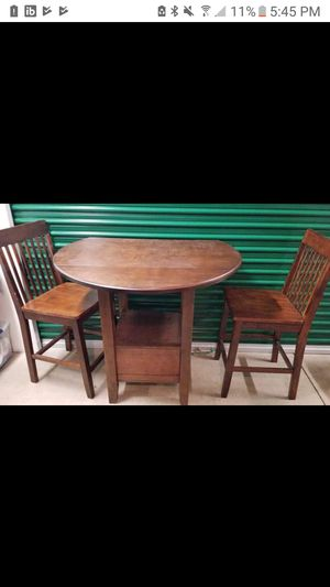 Two person high top table and chairs for Sale in East Stroudsburg, PA