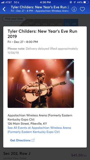 2 Tickets to Tyler Childers for Sale in Lexington, KY