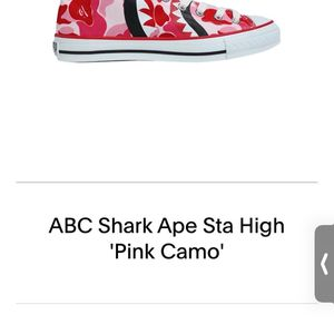 ABC Shark Ape Sta High Pink Camo DEAD STCOK 🔥🔥🔥 for Sale in New Haven, CT