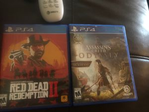Red dead redemption 2 and Assassins creed odyssey for Sale in Paris, KY