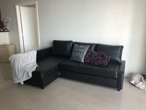 FRIHETEN Sofa Couch with FULL pull out Sleeper Bed! for Sale in Delray Beach, FL