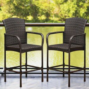 Rattan Wicker Outdoor Bar Chair Patio Furniture (2-Pack) for Sale in Los Angeles, CA