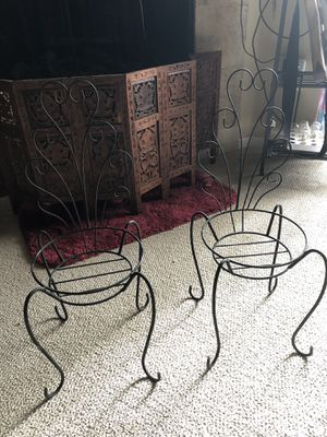Plant stands/small chairs for plants for Sale in Denver, CO