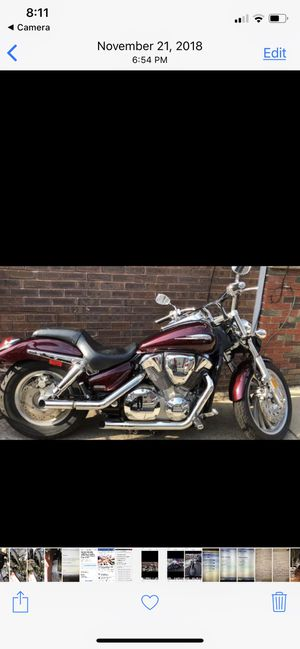 Motorcycle vtx 1300 Honda 2007. New inspection ready for one year for Sale in Philadelphia, PA
