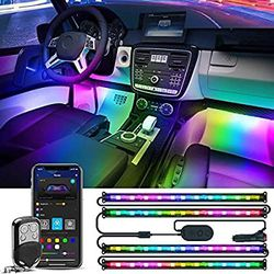 H6114 Govee RGBIC Car Interior Lights with Smart APP Control, 2 Lines Design LED Car Lights, Music Sync Mode, DIY Mode and Multiple Scene Options for for Sale in Los Angeles,  CA