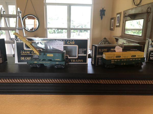 Lionel box cars n k line engine and box cars