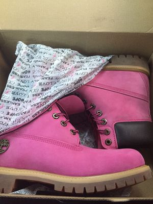 Brand new breast cancer timberland boots for Sale in Portland, OR