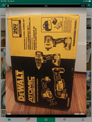 Dewalt atomic compact series 4 tools 2 saws 2 drills 2 batteries charger and bag for Sale in Santa Ana, CA
