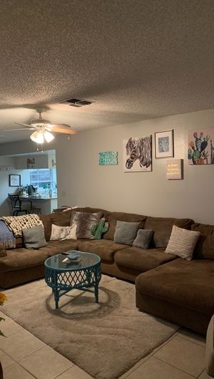 Light brown sectional couch for Sale in Valrico, FL