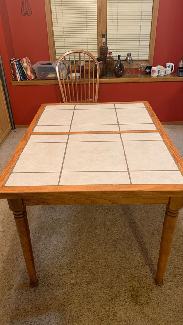 Tile top kitchen table