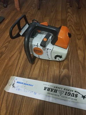 "Stihl ms 201c arborist chainsaw 14"" guide bar lightweigh 2 New chain 2 New air filter for Sale in Lawrenceville, GA"