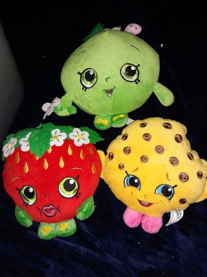 Shopkins stuff toys 3 of them Southside for Sale in San Antonio, TX