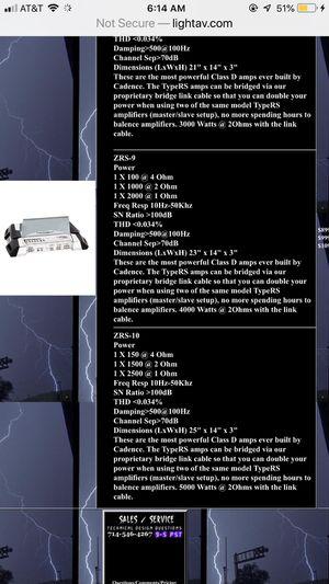 4000 watt Cadence Ultradrive ZRS-9 VERY RARE!! TAKING BEST OFFER for Sale in Weirton, WV